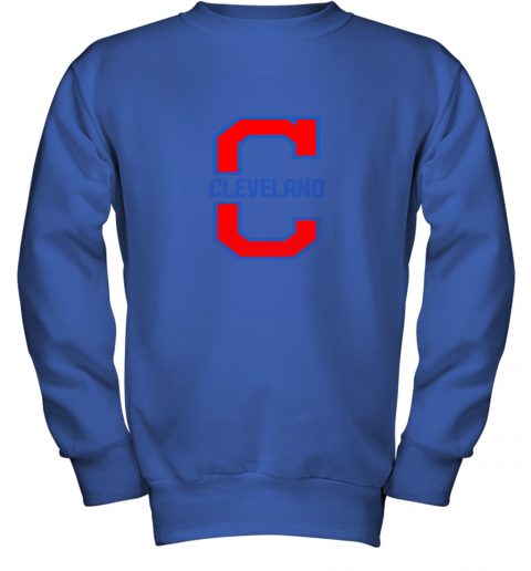 9lle cleveland hometown indian tribe vintage for baseball fans youth sweatshirt 47 front royal