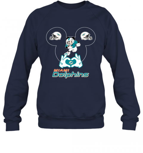 uqpy i love the dolphins mickey mouse miami dolphins sweatshirt 35 front navy