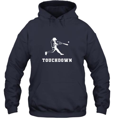 ijxl touchdown baseball shirtfunny sarcastic novelty hoodie 23 front navy