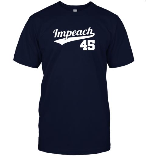 wqwp impeach donald trump 45 baseball logo jersey t shirt 60 front navy