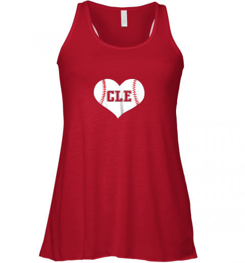 vxqp cleveland ohio baseball love heart cle gift jersey fan flowy tank 32 front red