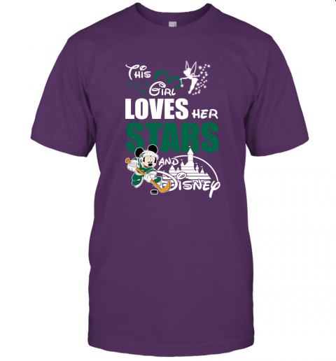 This Girl Love Her Dallas Stars And Mickey Disney Unisex Jersey Tee