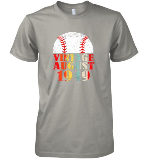 xzzj born august 1949 baseball shirt 70th birthday gifts premium guys tee 5 front light grey