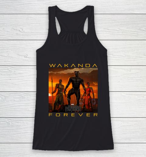 Marvel Black Panther Movie Wakanda Forever Graphic Racerback Tank
