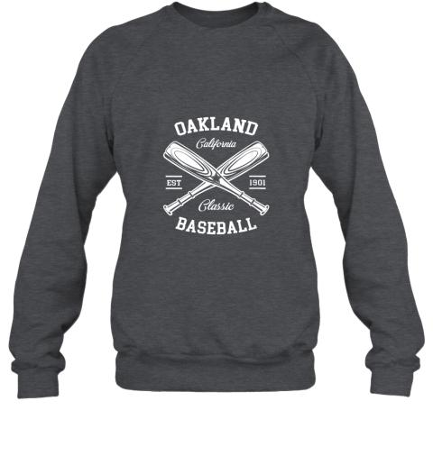 dd2l oakland baseball classic vintage california retro fans gift sweatshirt 35 front dark heather