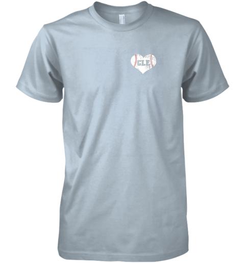 yazr vintage cleveland baseball sweatshirt ohio cle premium guys tee 5 front light blue
