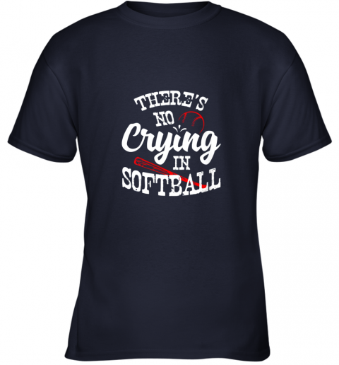 znbo theres no crying in softball game sports baseball lover youth t shirt 26 front navy