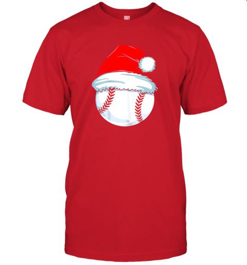 yu1m christmas baseball shirt for kids men ball santa pajama jersey t shirt 60 front red