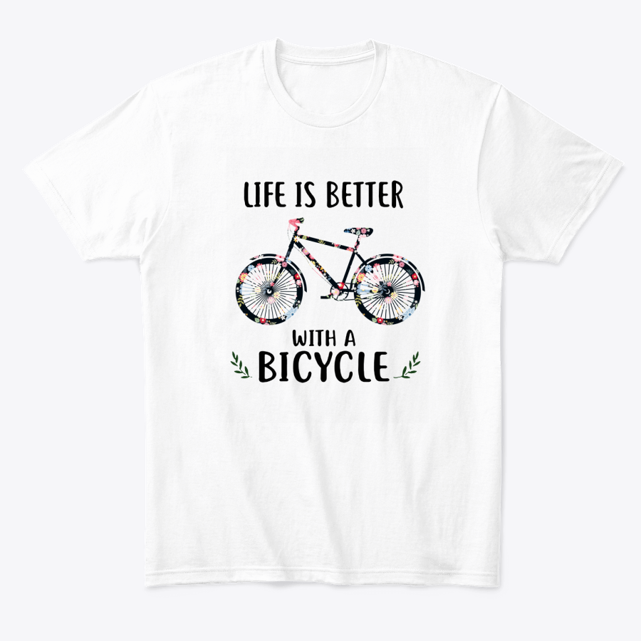 Life Is Better With A Bicycle Floral T-Shirt