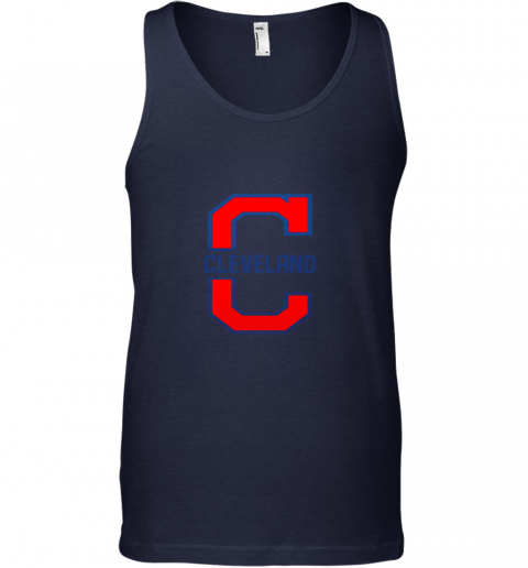 zqns cleveland hometown indian tribe vintage for baseball fans unisex tank 17 front navy