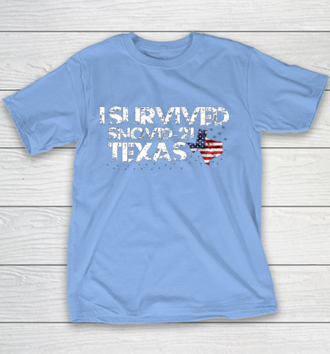 I Survived Snovid 21 Texas Youth T-Shirt 8