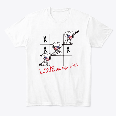 Snoopy Tic Tac Toe American Love Always Win T-Shirt