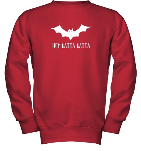 5wl3 halloween bat shirt funny baseball lover hey batta gift youth sweatshirt 47 front red