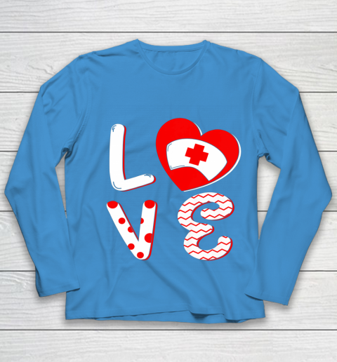 Medical Nurse Valentine Day Shirt Love Matching Youth Long Sleeve 5