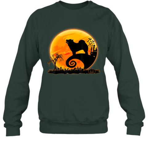 Chow Chow Dog Shirt And Moon Funny Halloween Costume Gift Sweatshirt