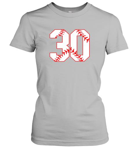 oowm thirtieth birthday party 30th baseball shirt born 1989 ladies t shirt 20 front sport grey