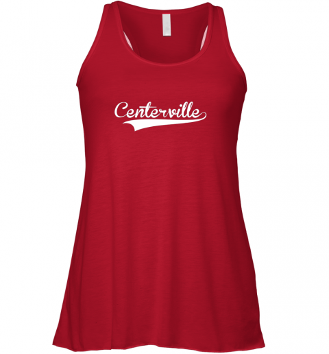 qsec centerville baseball softball styled flowy tank 32 front red