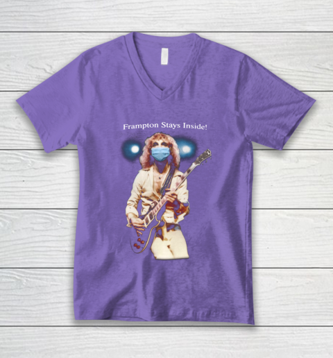Peter Frampton Covid Stays Inside V-Neck T-Shirt 8