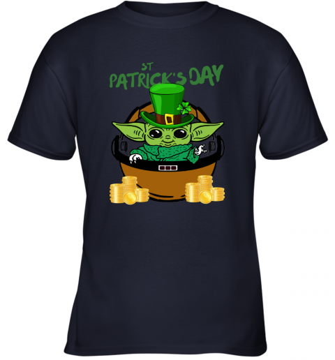 q6v9 baby yoda st patricks day outfit youth t shirt 26 front navy
