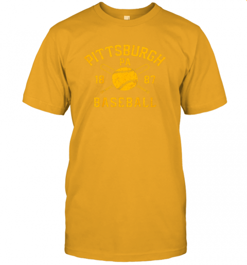 nzh7 vintage pittsburgh baseball pennsylvania pirate retro gift jersey t shirt 60 front gold