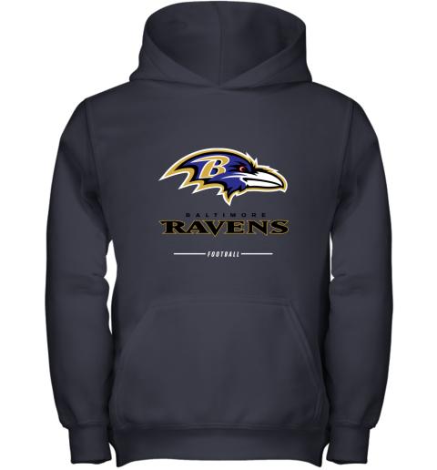 jehz mens baltimore ravens nfl pro line black team lockup t shirt youth hoodie 43 front navy