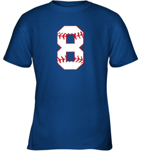 4bq0 cute eighth birthday party 8th baseball shirt born 2011 youth t shirt 26 front royal