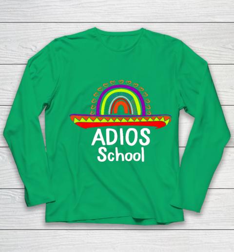 Adios School Happy Last Day Of School 2021 Teacher Mexican Youth Long Sleeve 4