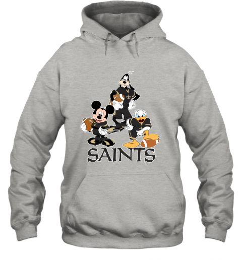 11vl mickey donald goofy the three new orleans saints football hoodie 23 front ash