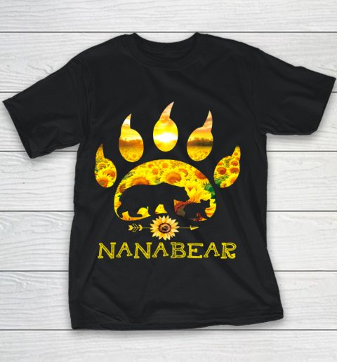 Nana Bear Sunflower T Shirt Funny Mother s Day Youth T-Shirt