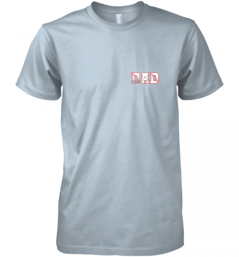 bkx2 mens baseball inspired dad fathers day distressed premium guys tee 5 front light blue