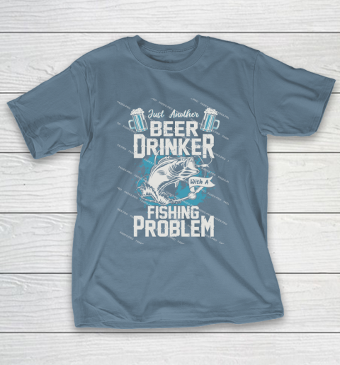Beer Lover Funny Shirt Fishing ANd Beer T-Shirt 6