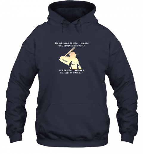 u9rh mens behind every baseball player is a dad that believes hoodie 23 front navy