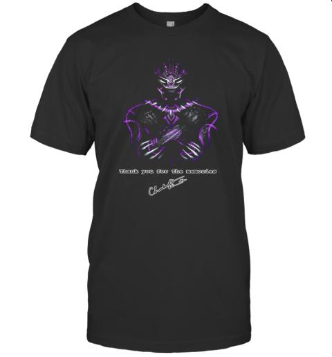 Actor Chadwick Boseman The Black Panther Marvel T-Shirt