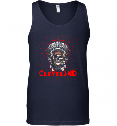 stoq cleveland hometown indian tribe vintage baseball fan awesome unisex tank 17 front navy