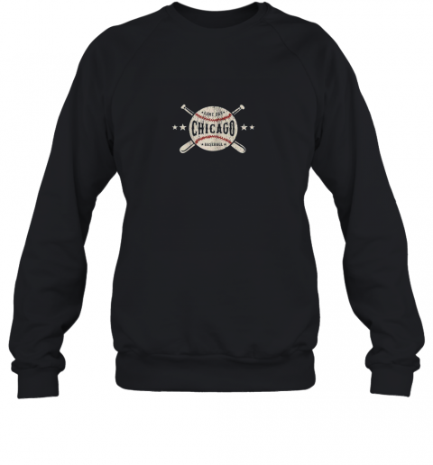 Chicago Illinois IL Shirt Vintage Baseball Graphic Sweatshirt