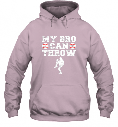 57ly kids cute baseball brother sister funny shirt cool gift pitcher hoodie 23 front light pink