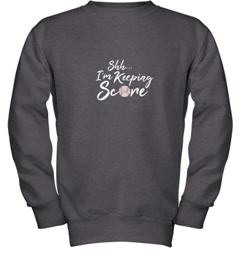 tt8o scorekeeper baseball team scorebook keeper youth sweatshirt 47 front dark heather