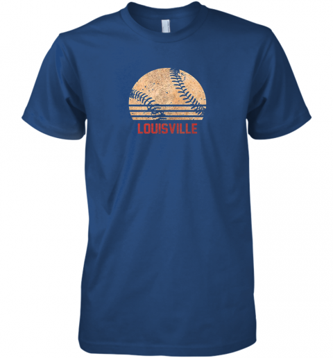 um82 vintage baseball louisville shirt cool softball gift premium guys tee 5 front royal