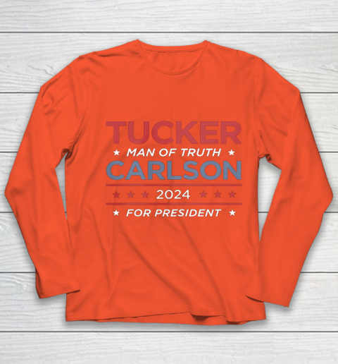 Vote For Tucker Carlson 2024 Presidential Election Campaign Youth Long Sleeve 3