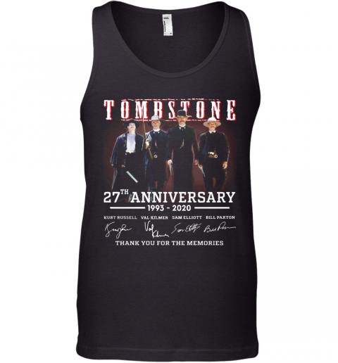 Tombstone 27Th Anniversary 1993 2020 All Character Signatures Tank Top