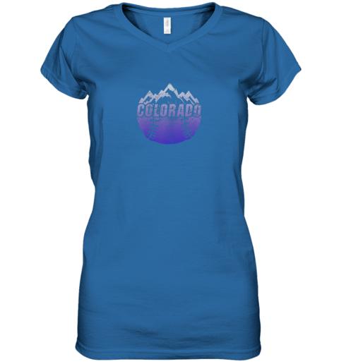n4uh colorado baseball rocky mountains women v neck t shirt 39 front royal