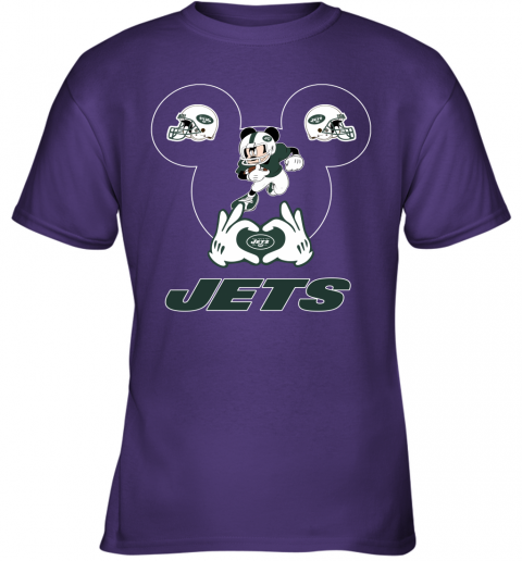 duq2 i love the jets mickey mouse new york jets youth t shirt 26 front purple