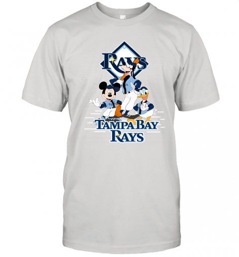 ht9i tampa bay rays mickey donald and goofy baseball jersey t shirt 60 front white