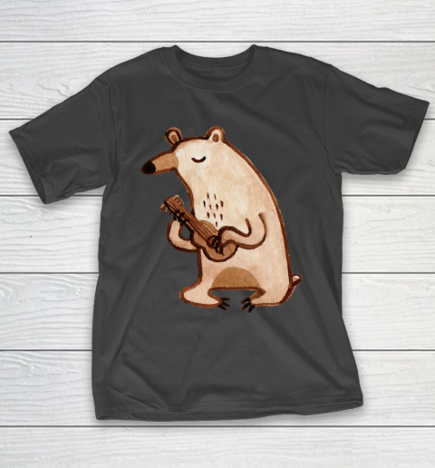 Father's Day Funny Gift Ideas Apparel Ukulele Bear T Shirt T-Shirt