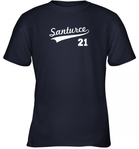 kwp2 vintage santurce 21 puerto rico baseball youth t shirt 26 front navy