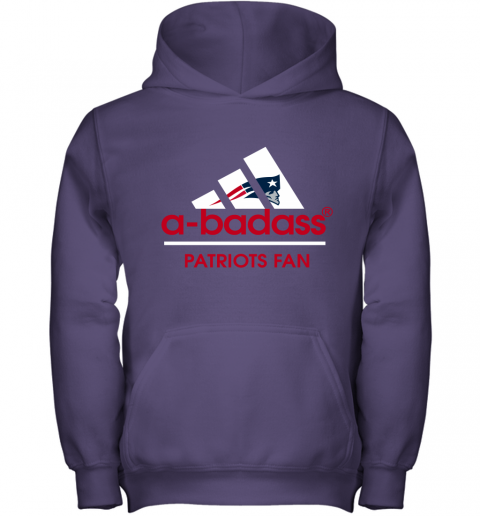 onds a badass new england patriots mashup adidas nfl shirts youth hoodie 43 front purple