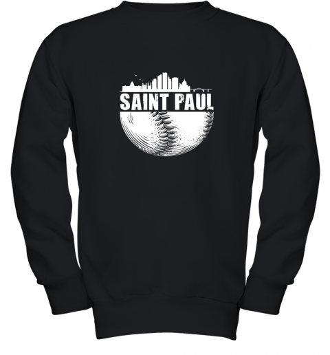 Saint Paul Skyline City Baseball Shirt Souvenir Skyline Youth Sweatshirt