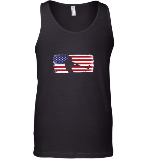 USA American Flag Baseball Player Perfect Gift Tank Top