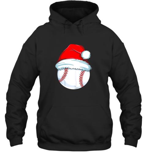 Christmas Baseball Shirt For Kids Men Ball Santa Pajama Hoodie