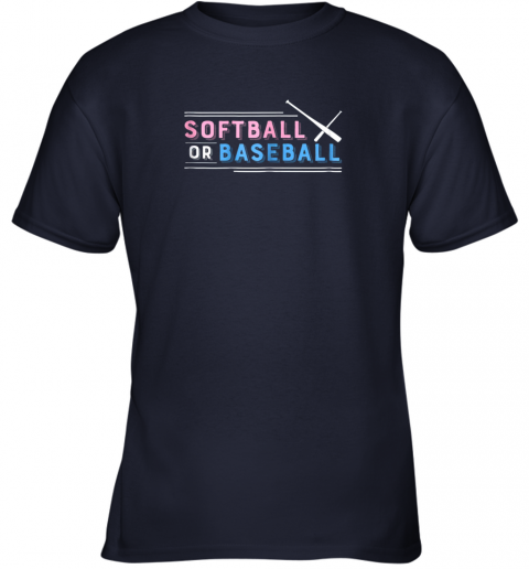 s55r softball or baseball shirt sports gender reveal youth t shirt 26 front navy